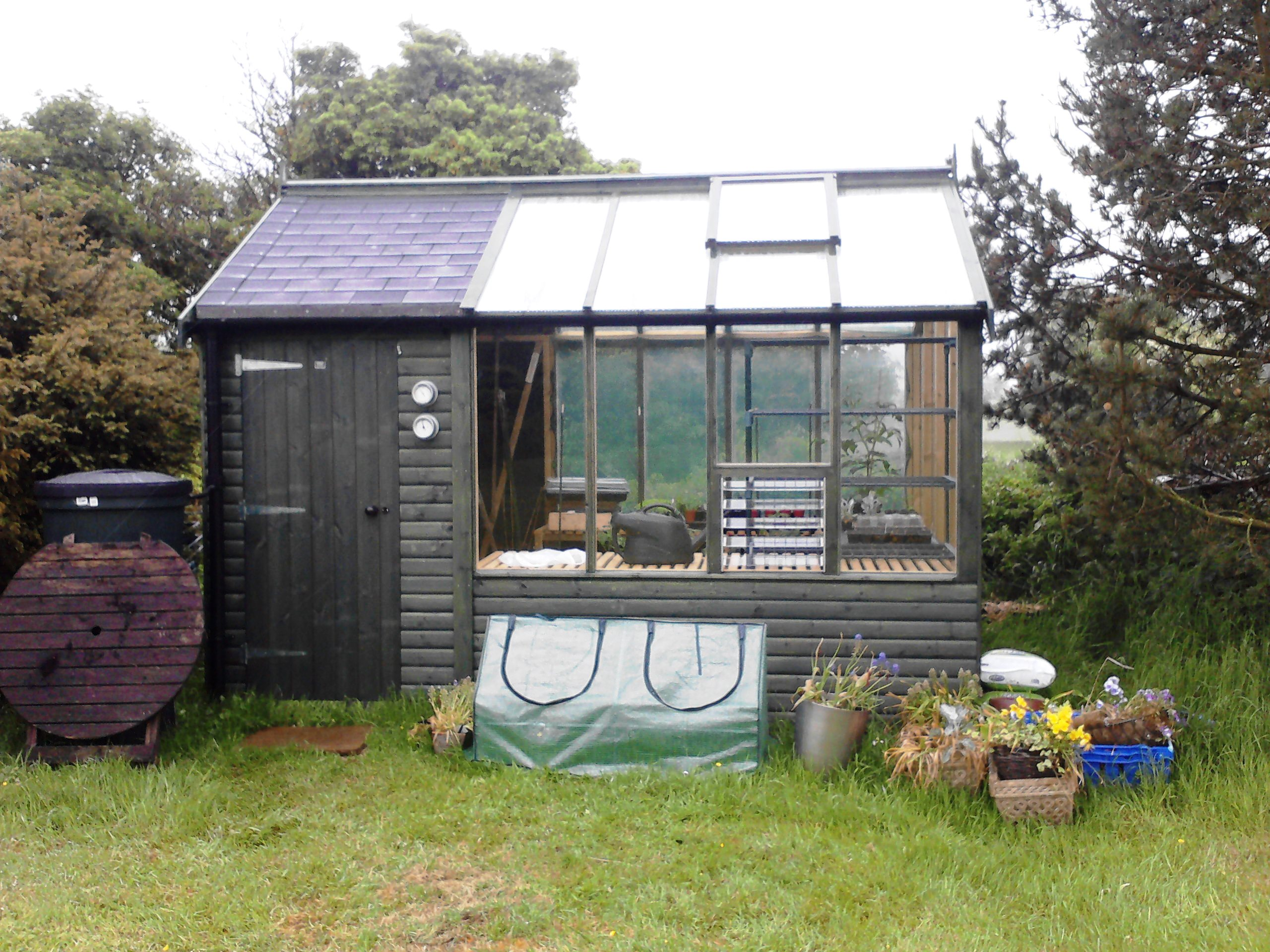 ... Shed Greenhouses And. on shed greenhouse combo garden building plans